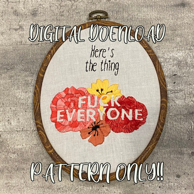 Here's the thing... Pattern  Hand embroidery pattern  image 0