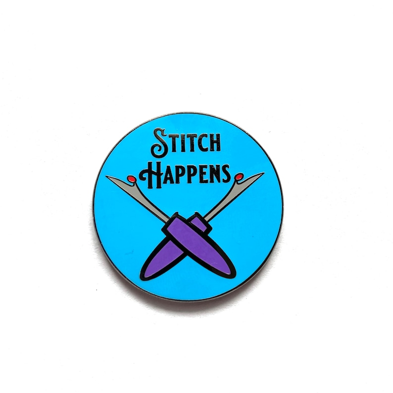 Stitch Happens needle minders for cross stitch Sewing gifts image 0