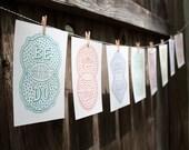 Venn by Pen Prints - Set of 8