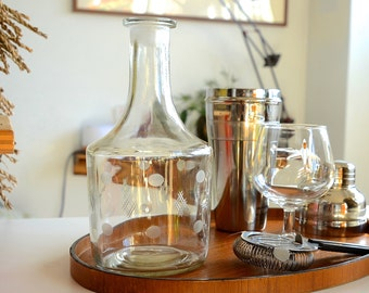 1950's Clear Glass Decanter