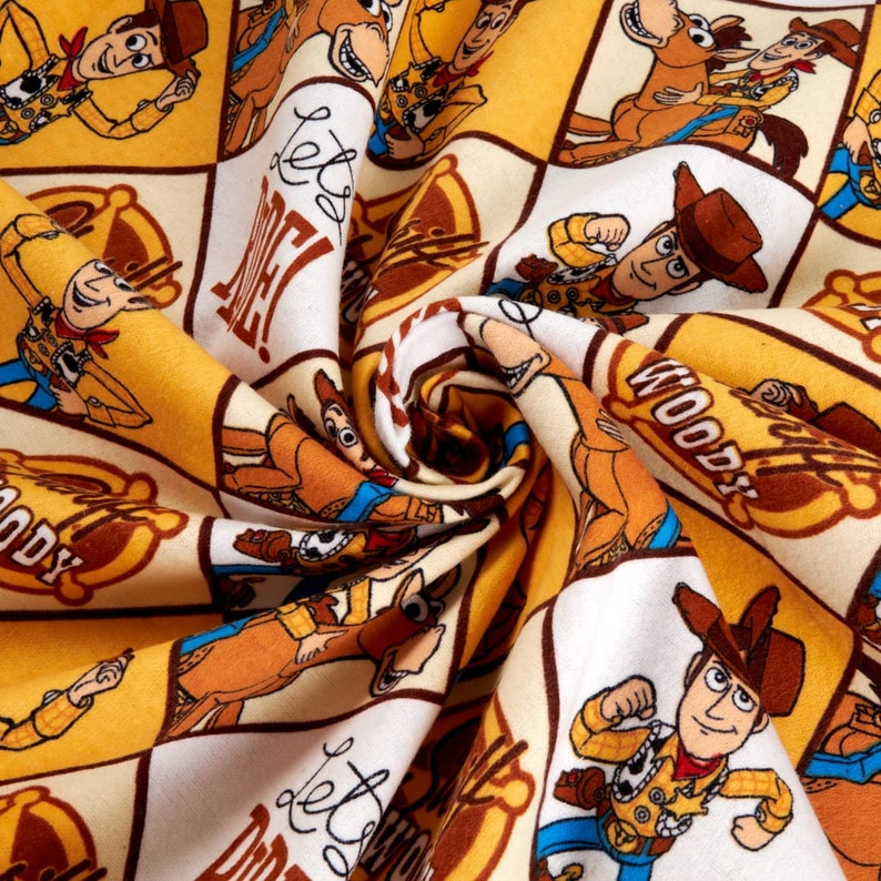 Disney Toy Story 4 Sheriff Woody Multi FLANNEL Choose Your Cut BTY Camelot Fabrics