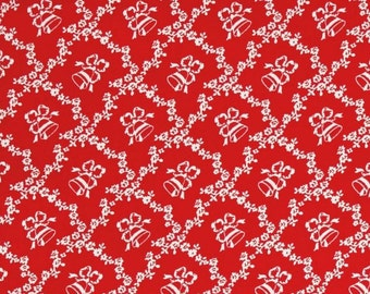 Windham Fabrics. Storybook Christmas. Lattice with Bells - Cotton fabric BTY - Choose your cut