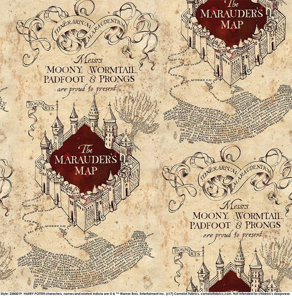 Camelot Fabrics Harry Potter Marauder S Map Knit Etsy