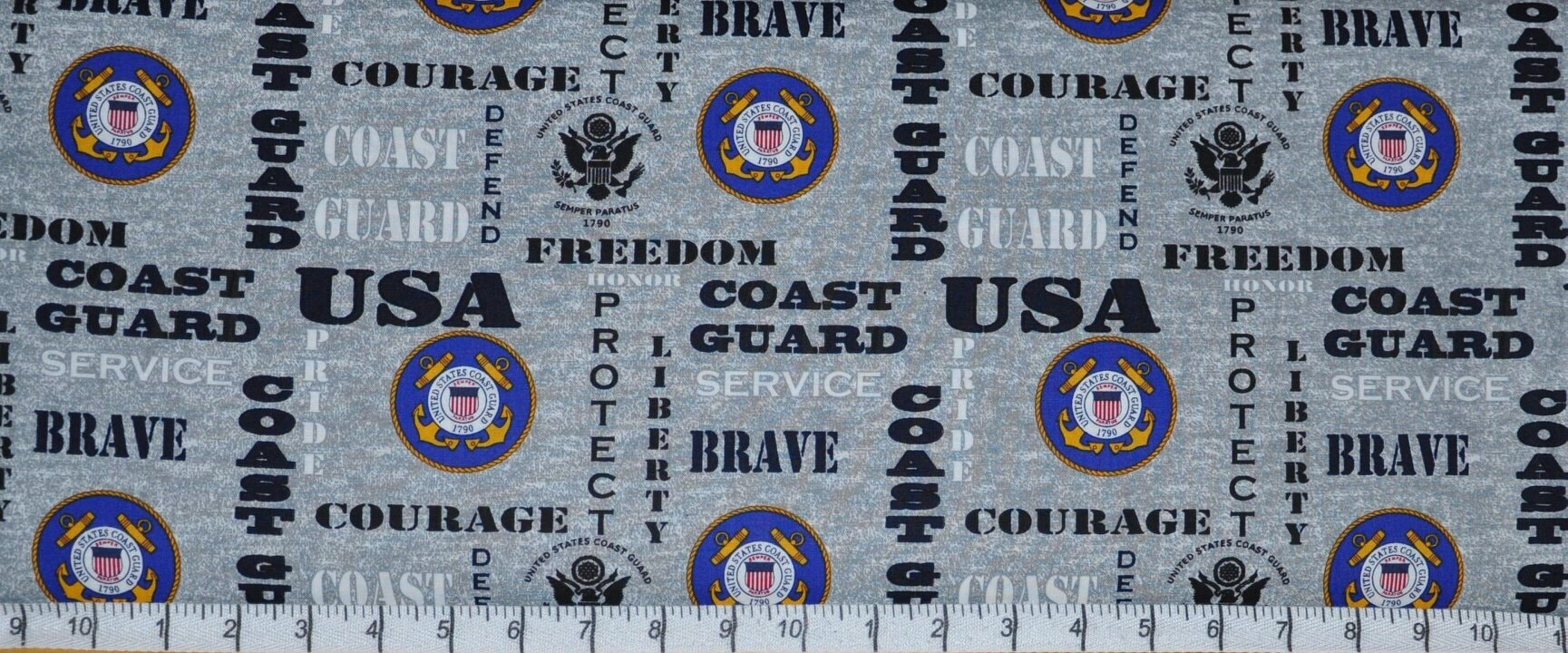 United States Coast Guard Collage Print by Sykel Enterprises-BTY-Protect /& Serve