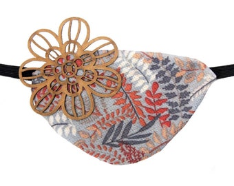 Eye Patch Woodland Daisy Forest Mushroom Bird Nest Bright Fashion Pirate Fantasy Cute