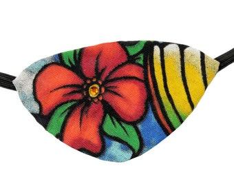 Eye Patch Sun Surf Tropical Beach Pirate Fashion Fantasy Jeweled Floral