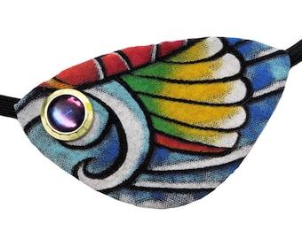 Eye Patch Tropical Seas Fish Beach Ocean Pirate Fashion Fantasy Jeweled