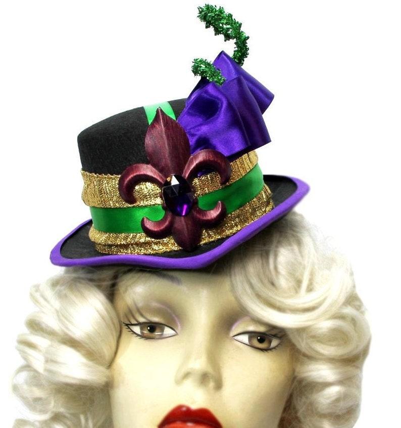 86f131d4c2fbe Mardi Gras Queen Mini Riding Top Hat Steampunk Tea Party