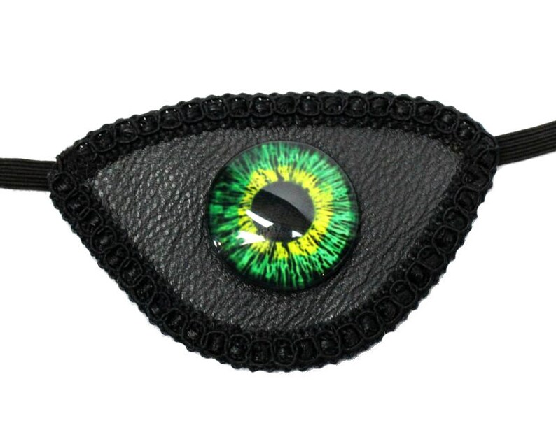 Evil Eye Patch Green Witch Warlock Vinyl Dragon Medieval image 0