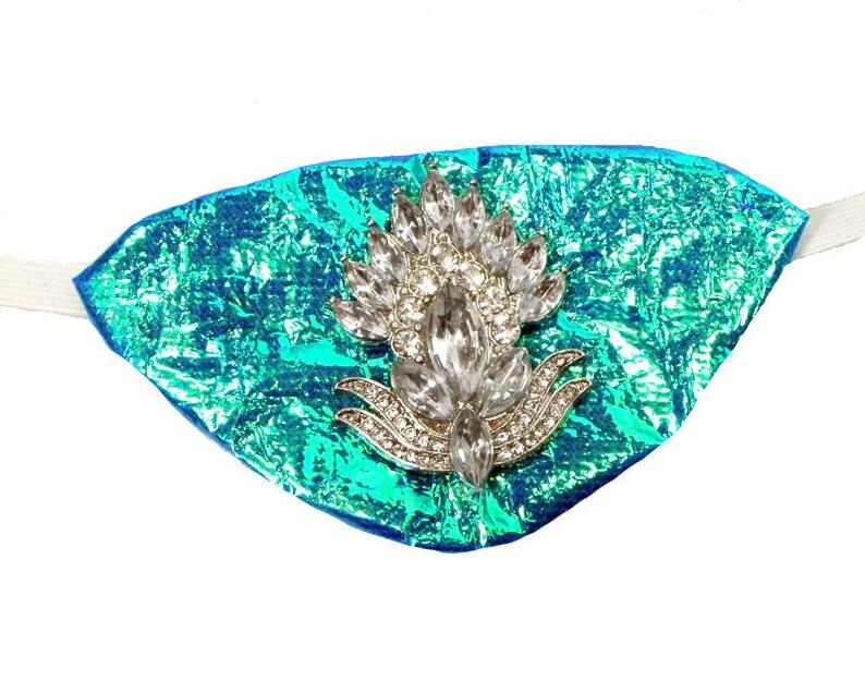 Eye Patch Winter Queen Frozen Jeweled Mermaid Pirate Fashion Fantasy Rhinestone