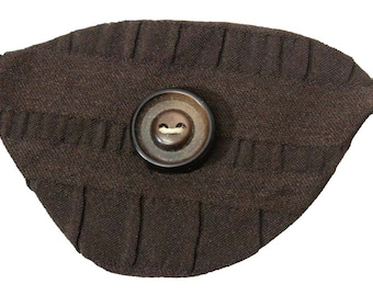 Brown Eye Patch Dapper Buttoned Steampunk Pirate Buccaneer Fashion Cosplay Nautical