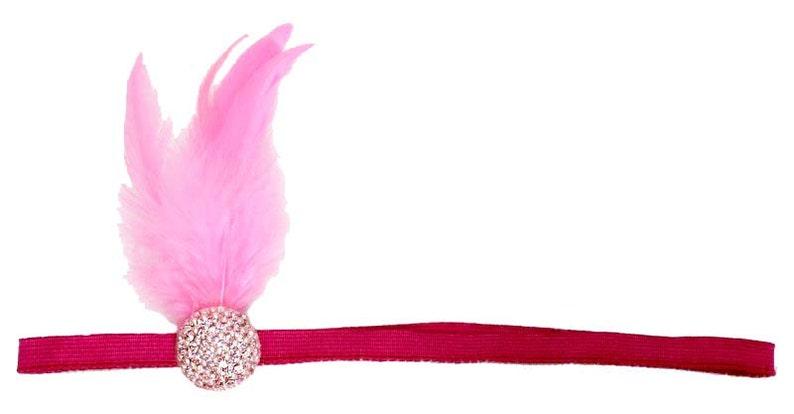 Flapper Headband Hot Pink Roaring 20's Gatsby Showgirl image 0