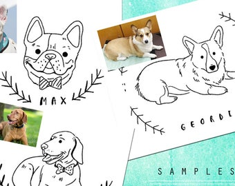 Printable Custom Dog Drawing- LIMITED TIME ONLY