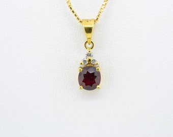 Ruby Necklace 0.94ct Light Flux Ruby pendant necklace