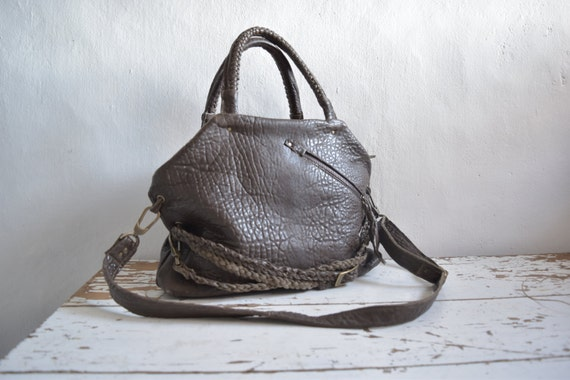 Pebbled Leather Slouchy Purse from Byloom and Hyde.