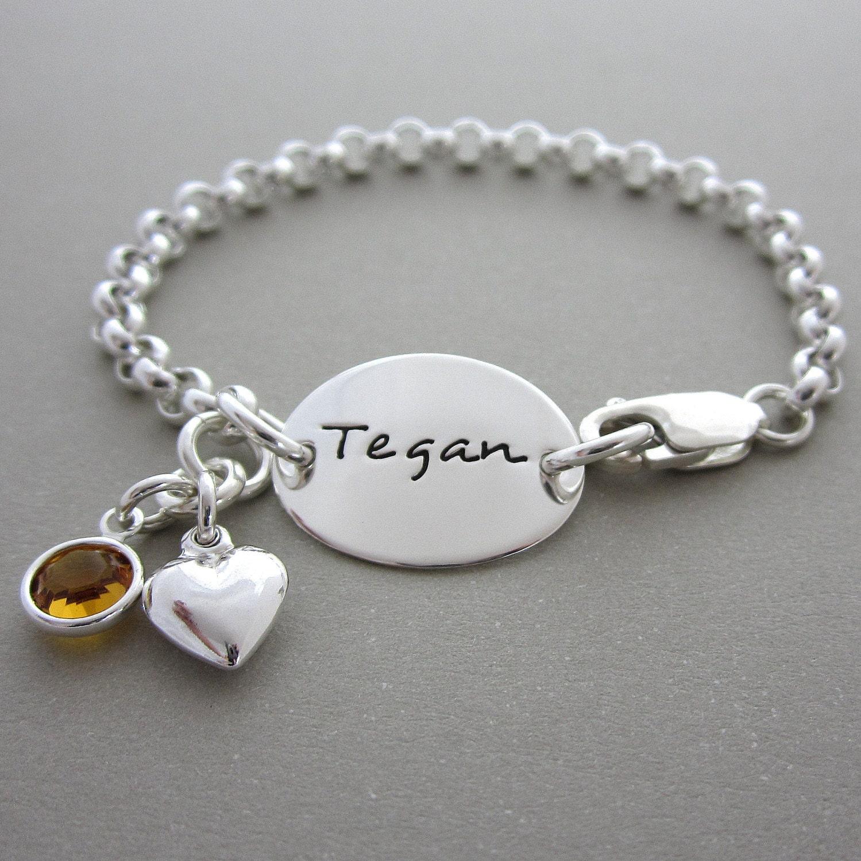 Childrens Charm Bracelet: Jewelry Kids Bracelets Baby Bracelets Personalized Charm