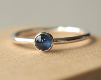 Sapphire Birthstone Ring - SALE 25% off - Stacking Rings - Sterling  Silver  - Genuine Sapphire - September Birthstone - Natural Sapphire