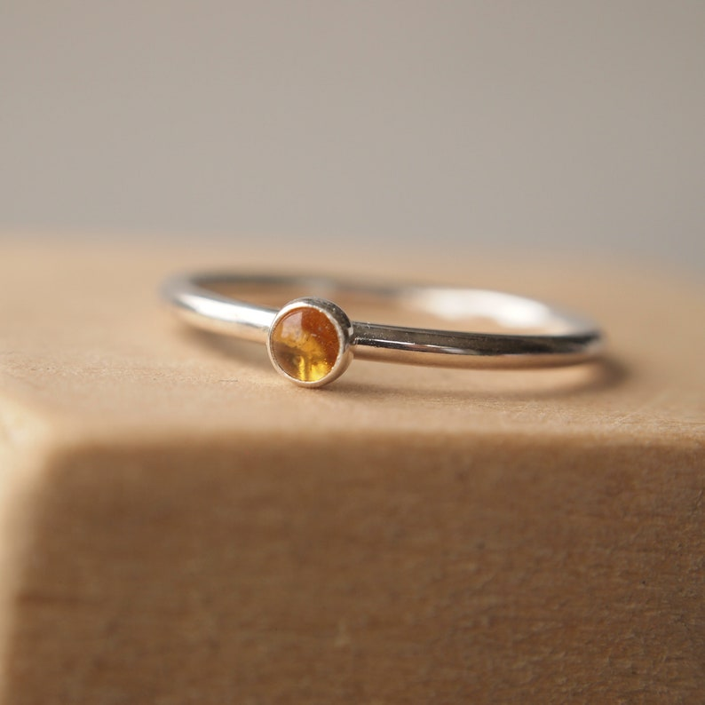 Citrine Silver Ring  November Birthstone Ring  Sterling image 0