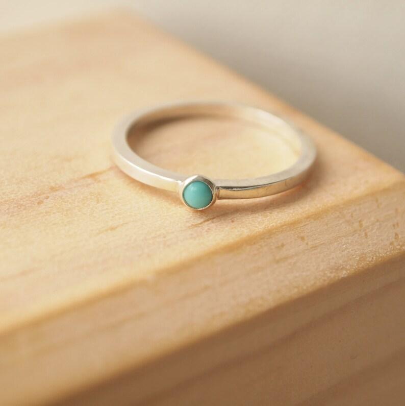 Turquoise Ring  December Birthstone Ring  Turquoise Ring image 0