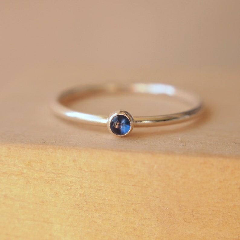 Sapphire Ring  Sapphire Ring Sterling Silver September image 0