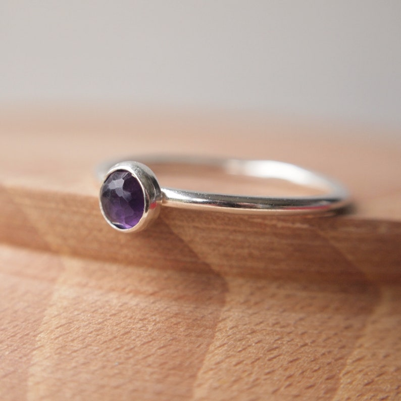 Amethyst Ring  Sterling Silver Amethyst Ring  February image 0