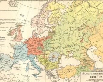 Europe ethnic map | Etsy
