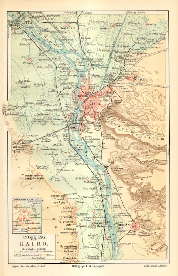 1905 Cairo and its Surroundings, the Pyramids, Sra, Memphis, Egypt on pyramid mexico city map, pyramid egypt map, pyramid giza map,