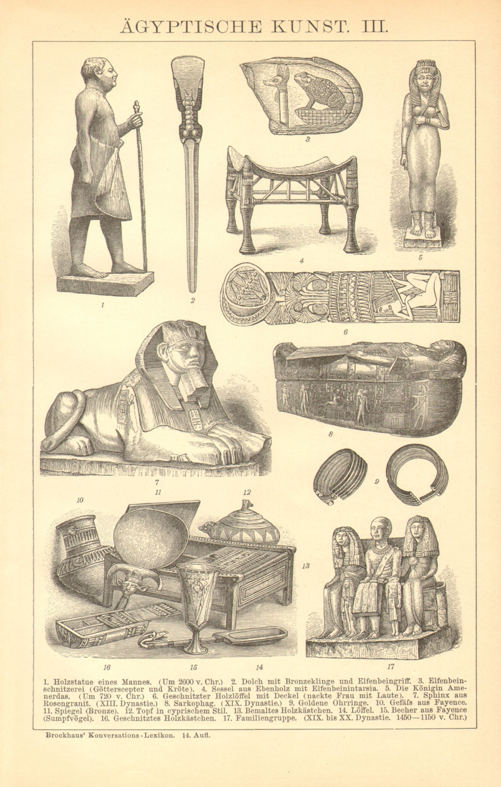 Art Of The Ancient Egypt Antique Engraving Printed In 1893 Etsy