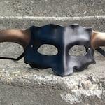 HANK. Leather wearable art mask.