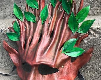 ELDER SPRITE Leather Tree Mask