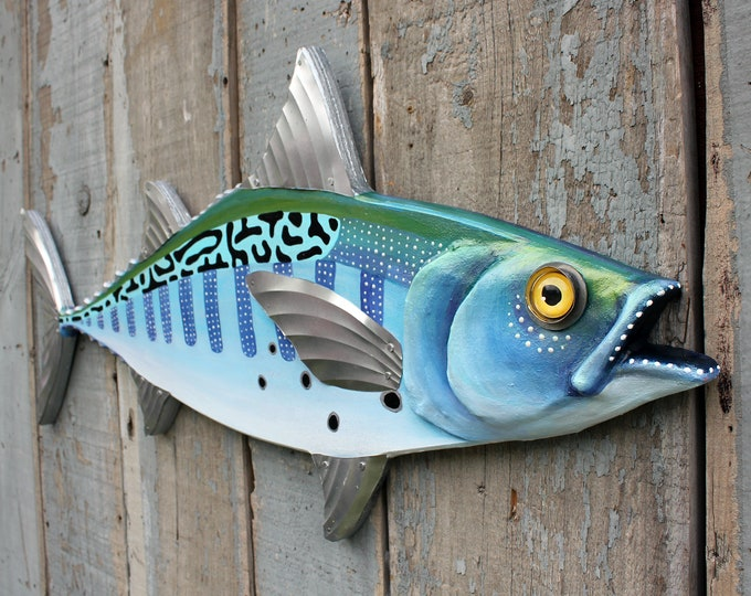 False Albacore, Folk Art Fish Wall Sculpture 34""
