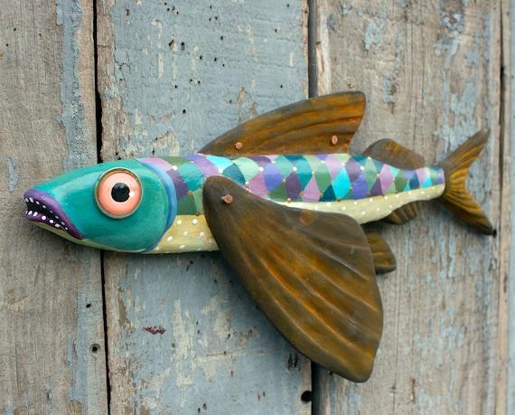 "Jude, Flying Fish Wall Art 17"""