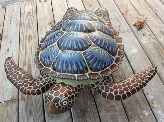 Sea Turtle Wall Sculpture Original Artwork 24""