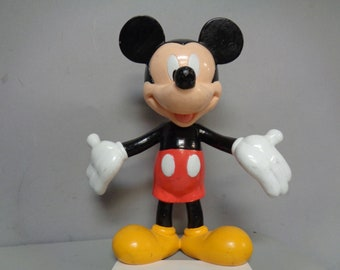 MICKEY MOUSE, Vintage Bobble Head Figure, Applause, Walt Disney Productions,Made in Japan, Animated Movie, Cartoon Character Child's Toy