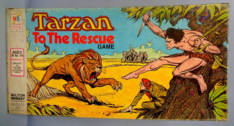 TARZAN To The Rescue1977 Vintage BOARD GAME Milton image 0
