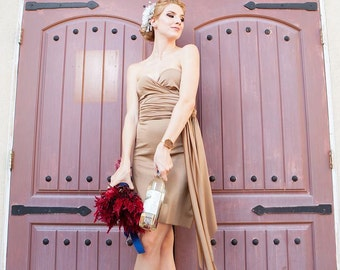 Sable Brown Infinity Convertible Dress -37 Colors - Bridesmaids, Wedding, Prom