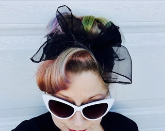 Pinup Hair Scarf - 13 Colors ALL in stock!!! - 8 each or 3 for 20- Vintage Chiffon Scarf