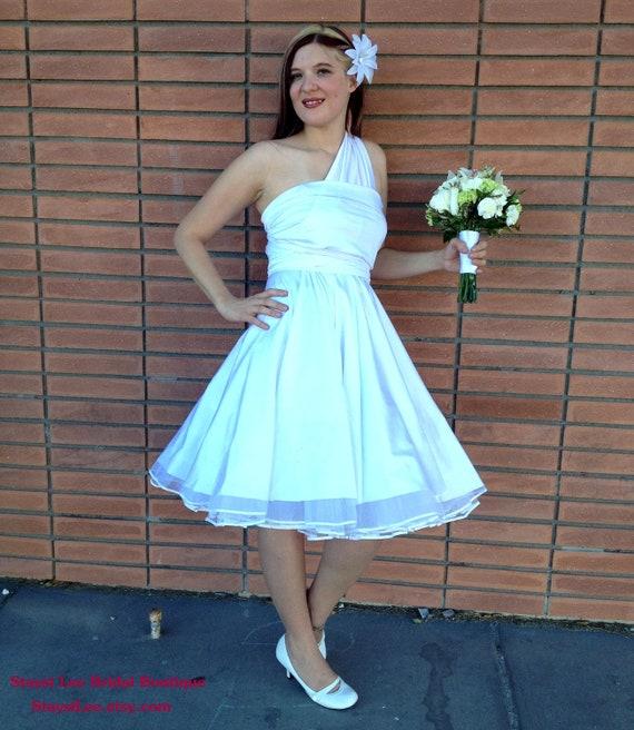 1950s Rockabilly Wedding Dress with Petticoat ...   Etsy