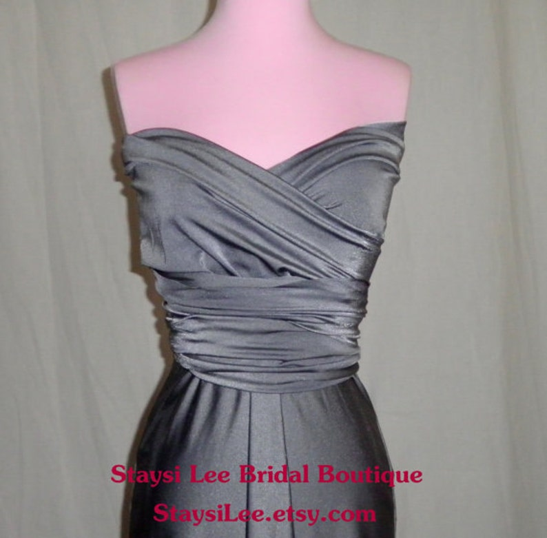 Cocktail Party Car Show VLV Wedding Date Night Bridesmaids Gray Vintage Inspired Infinity Dress ..
