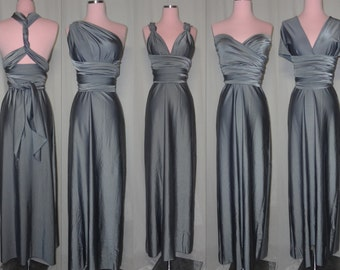 Floor Length Convertible Dress...37 Colors... Bridesmaids, Wedding, Honeymoon, Prom, Cocktail Party