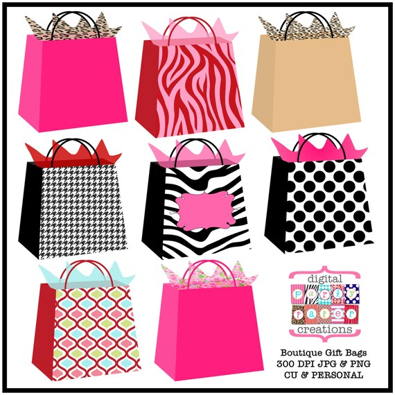 graphic regarding Printable Gift Bags named Boutique Reward Luggage Clipart - Printable Reward Bag Case in point