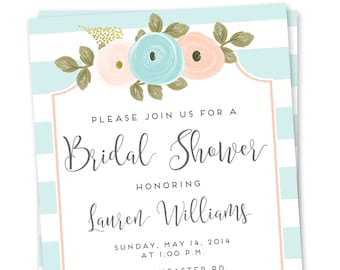 Wedding Shower Invitation - Wedding Shower Invitation Printable  - Printable Wedding Shower Invitation