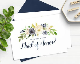 Will You Be My Maid of Honor Card, Will You Be My Bridesmaid Download, Bridesmaid Proposal, Ask Maid of Honor, Ask Bridesmaid