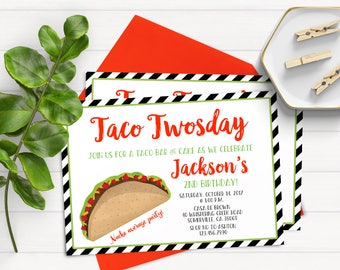 taco tuesday invite etsy