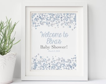 Baby Shower Welcome Sign Printable Shower Sign Baby Sprinkle Decorations Sprinkle Shower Decorations Baby Shower Sign Signage