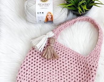 Market Tote Crochet Pattern, Crochet Tote Bag Pattern, Daisy Cottage Designs Tote Bag Pattern, Crochet Bag Pattern, Crochet Purse Pattern
