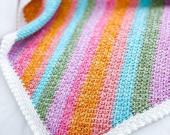C2C Moss Stitch Crochet Pattern with Mini Bobble Border, Linen Stitch Crochet Pattern, Granite Stitch, C2C Crochet Pattern