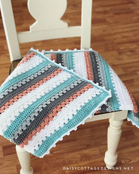 Crochet Pattern Crocheting Simple Crochet Blanket Pattern Etsy