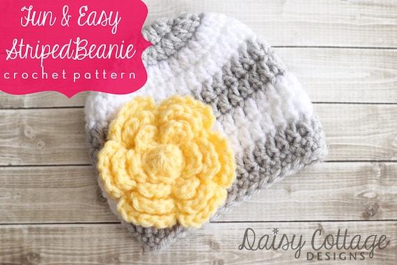 Easy Crochet Hat Pattern Baby Crochet Hat Patterns Crochet Etsy