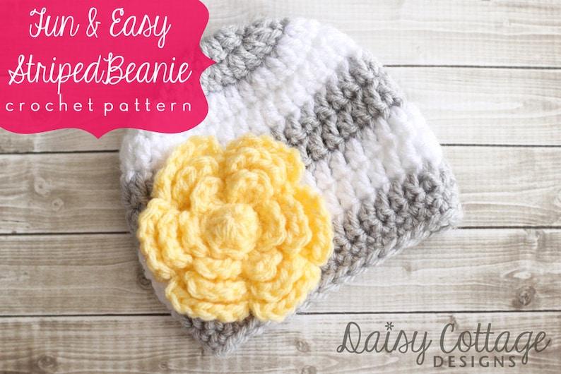Easy Crochet Pattern Striped Hat Pattern Crochet Hat image 0